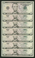 """Small Size:Group Lots, """"Radar Notes"""". Twenty Three Examples. Gem Crisp Uncirculated.. ... (Total: 23 notes)"""