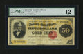 Large Size:Gold Certificates, Fr. 1193 $50 1882 Gold Certificate PMG Fine 12....