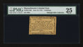 Colonial Notes:Massachusetts, Massachusetts June 18, 1776 4s PMG Very Fine 25....