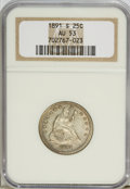 Seated Quarters: , 1891-S 25C AU53 NGC. NGC Census: (1/139). PCGS Population (1/150).Mintage: 2,216,000. Numismedia Wsl. Price for NGC/PCGS c...