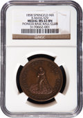 Baseball Collectibles:Others, 1858 Pioneer Base Ball Club Medal NGC MS 63 BN....