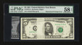 Error Notes:Obstruction Errors, Fr. 1976-A $5 1981 Federal Reserve Note. PMG Choice About Unc 58 EPQ.. ...