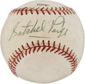 Autographs:Baseballs, 1970's Satchel Paige Single Signed Baseball. ...
