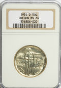 Commemorative Silver: , 1934-D 50C Oregon MS65 NGC. NGC Census: (538/199). PCGS Population(778/345). Mintage: 7,006. Numismedia Wsl. Price for NGC...