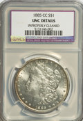 1885-CC $1 --Improperly Cleaned--NCS. Unc Details. NGC Census: (13/7124). PCGS Population (46/16242). Mintage: 228,000...