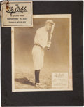 Baseball Collectibles:Others, 1914 Ty Cobb Advertising Sign, Part One....