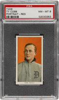 Baseball Cards:Singles (Pre-1930), 1909-11 T206 Ty Cobb Portrait Red Background PSA NM-MT 8....