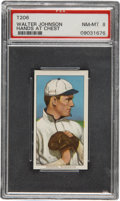 Baseball Cards:Singles (Pre-1930), 1909-11 T206 Walter Johnson Hands at Chest PSA NM-MT 8....
