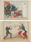 Antiques:Posters & Prints, John Doyle (aka H.B.). Five Prints of Political Satire. Five lithographs, colored by hand, printed in London by T. McLean, c... (Total: 5 Items)