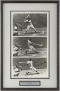 Autographs:Photos, Circa 1990 Mickey Mantle Signed First Hit Photographic Montage....