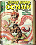 Bronze Age (1970-1979):Adventure, Savage Sword of Conan #17-25 Partial Issues Bound Volume (Marvel, 1977) ....