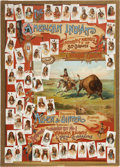 "Non-Sport Cards:Other, 1887 G1 Allen & Ginter ""Celebrated Indian Chiefs"" AdvertisingPoster...."