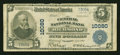 National Bank Notes:Virginia, Richmond, VA - $5 1902 Plain Back Fr. 602 The Central NB Ch. #10080. ...