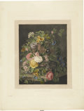 Antiques:Posters & Prints, Mary Gartside. Untitled Floral Still Life. Hand-colored aquatint engraving by R. & D. Havell, dated 1811, most likely from G...