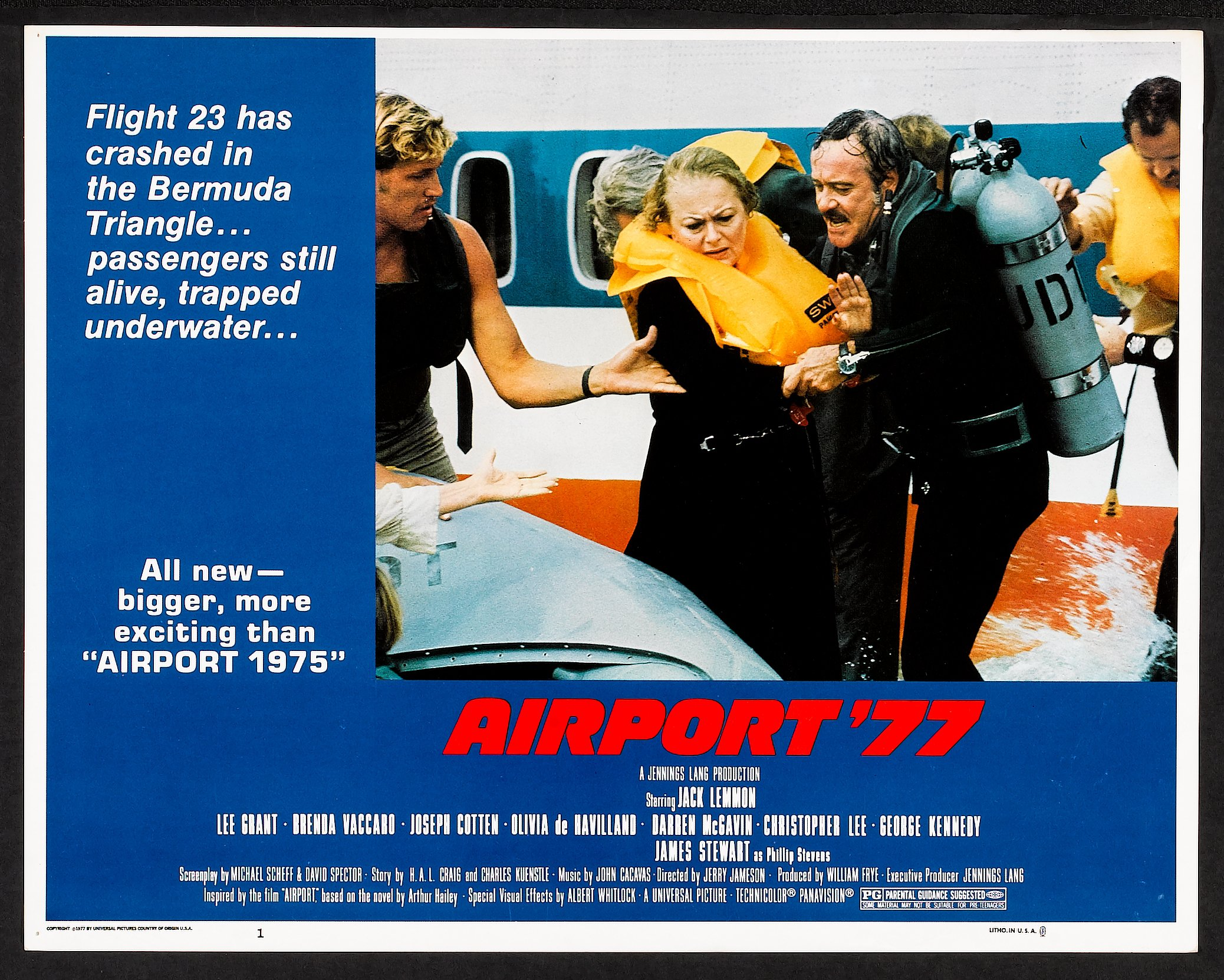 Airport '77 (Universal, 1977)  Lobby Card Set of 4 (11