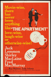 """The Apartment (United Artists, 1960). One Sheet (27"""" X 41""""). Comedy"""