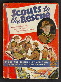 """Scouts to the Rescue (Universal, 1939). Hardcover Book (5"""" X 6.75,""""128 Pages). Serial"""
