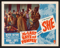 """The Last Days of Pompeii/She Combo Lot (RKO, R-1948). Lobby Cards (4) (11"""" X 14""""). Adventure. ... (Total: 4 It..."""