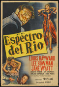 "Movie Posters:Film Noir, House by the River (Republic, 1950). Argentinean Poster (29"" X 43""). Film Noir.. ..."