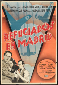 """Refugees in Madrid (United Artists, 1938). Argentinean Poster (29"""" X 43""""). Drama"""