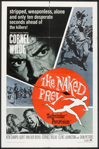 """The Naked Prey (Paramount, 1965). One Sheet (27"""" X 41"""") and British Quad (30"""" X 40""""). Adventure..."""