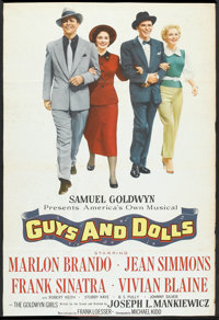 """Guys and Dolls (MGM, 1955). One Sheet (27"""" X 40"""") Flat Folded. Musical"""