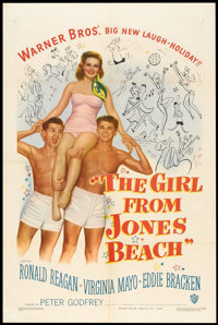 """The Girl From Jones Beach (Warner Brothers, 1949). One Sheet (27"""" X 41""""). Comedy"""