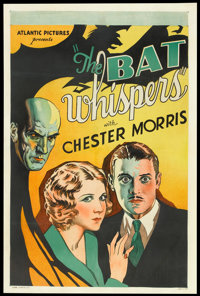 "The Bat Whispers (Atlantic, R-1930s). One Sheet (27"" X 41""). Horror"