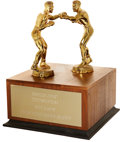 Boxing Collectibles:Memorabilia, 1978 Fritzie Zivic Testimonial Presentational Trophy....