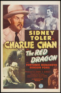 """Movie Posters:Mystery, The Red Dragon (Monogram, 1945). One Sheet (27"""" X 41""""). Mystery.. ..."""
