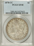 1878-CC $1 XF40 PCGS. PCGS Population (75/17975). NGC Census: (39/11998). Mintage: 2,212,000. Numismedia Wsl. Price for...