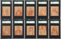 "Non-Sport Cards:Sets, 1930's R184 ""Indian Chiefs"" Complete Set (24) - #2 on the SGC SetRegistry!..."