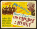"Movie Posters:War, The Purple Heart (20th Century Fox, 1944). Title Lobby Card (11"" X14""). War.. ..."