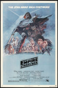 "Movie Posters:Science Fiction, The Empire Strikes Back (20th Century Fox, 1980). One Sheet (27"" X41"") Style B and Program (11"" X 33.5"", Folded Out). Scien...(Total: 2 Items)"