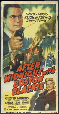 """After Midnight With Boston Blackie (Columbia, 1943). Three Sheet (41"""" X 81""""). Mystery"""