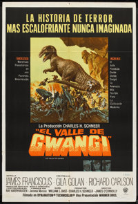 "The Valley of Gwangi (Warner Brothers, 1969). Argentinean Poster (29"" X 43""). Science Fiction"
