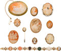 Estate Jewelry:Lots, Lot of Shell, Multi-Gemstone, Gold Jewelry . ... (Total: 11 Items)