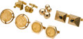 Estate Jewelry:Lots, Lot of Diamond, Black Star Sapphire, Gold Coin, Gold Cuff Links.... (Total: 10 Items)