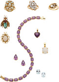 Estate Jewelry:Lots, Lot of Multi-Stone, Diamond, Gold Jewelry . ... (Total: 10 Items)