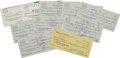Football Collectibles:Others, 1975-76 Joe Montana Signed Checks/Deposit Slips Lot of 10....