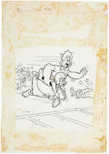 Original Comic Art:Covers, Warren Kremer Baby Huey and Papa #21 Cover Original Art(Harvey, 1965)....