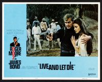 """Live and Let Die (United Artists, 1973). Lobby Card Set of 8 (11"""" X 14""""). James Bond. ... (Total: 8 Items)"""