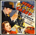 "Movie Posters:Action, Here's Flash Casey (Grand National, 1938). Six Sheet (81"" X 81"").Action.. ..."