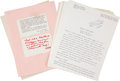 "Miscellaneous:Ephemera, Robert A. Heinlein. Signed Early Photocopy Draft of a NonfictionArticle ""Are You a Rare Blood?"" - With Other Mate..."