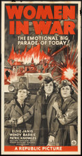 "Movie Posters:War, Women in War (Republic, 1940). Three Sheet (41"" X 81""). War.. ..."