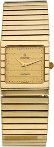 Timepieces:Wristwatch, Concord Gent's Gold Wristwatch, circa 1990. ...