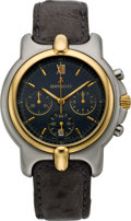 Timepieces:Wristwatch, Bertolucci Gent's Two Tone Chronograph Wristwatch, circa 2005. ...