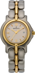 Timepieces:Wristwatch, Bertolucci New Two Tone Mid-Size Pulchra, circa 2005. ...