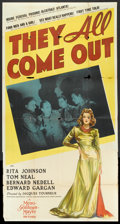 """Movie Posters:Drama, They All Come Out (MGM, 1939). Three Sheet (41"""" X 81""""). Drama.. ..."""