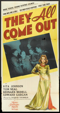 """They All Come Out (MGM, 1939). Three Sheet (41"""" X 81""""). Drama"""
